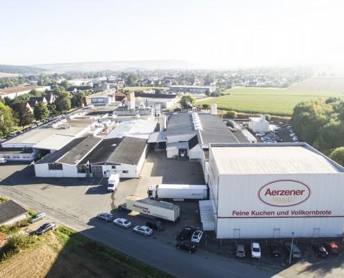 Aerzener Brot und Kuchen GmbH aus der Vogelperspektive, Fotohinweis: WeekendStars
